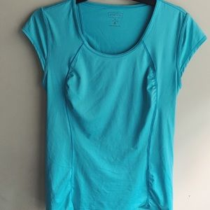 Athleta Turquoise Ruched Front Top, Sz. M